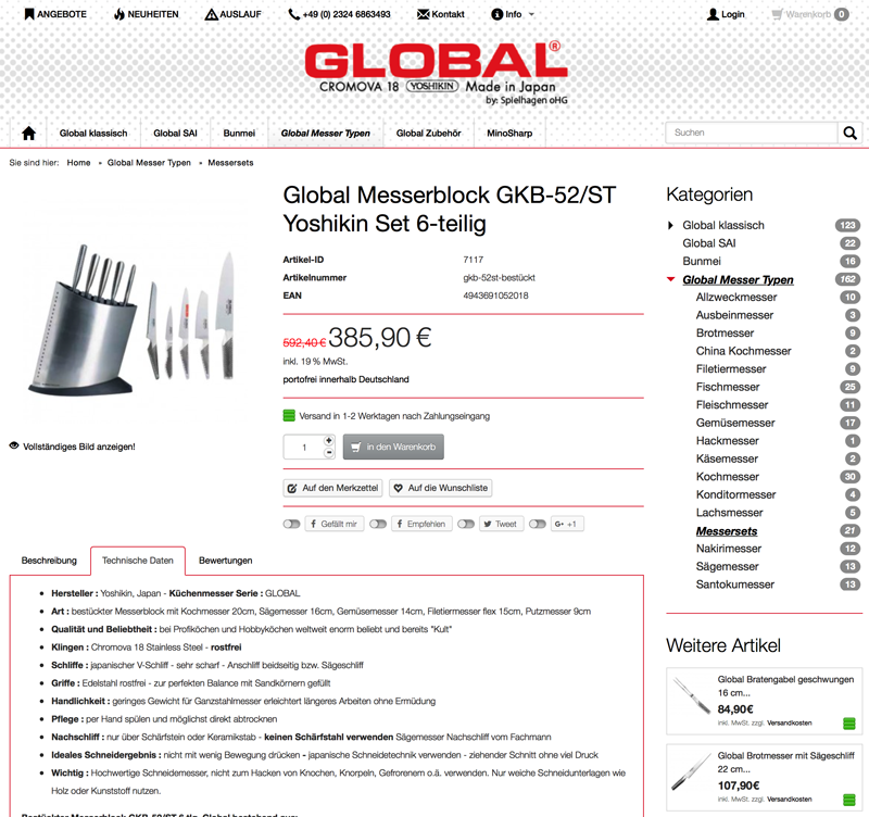 globalmesser.shop - Global Messer hier direkt bestellen